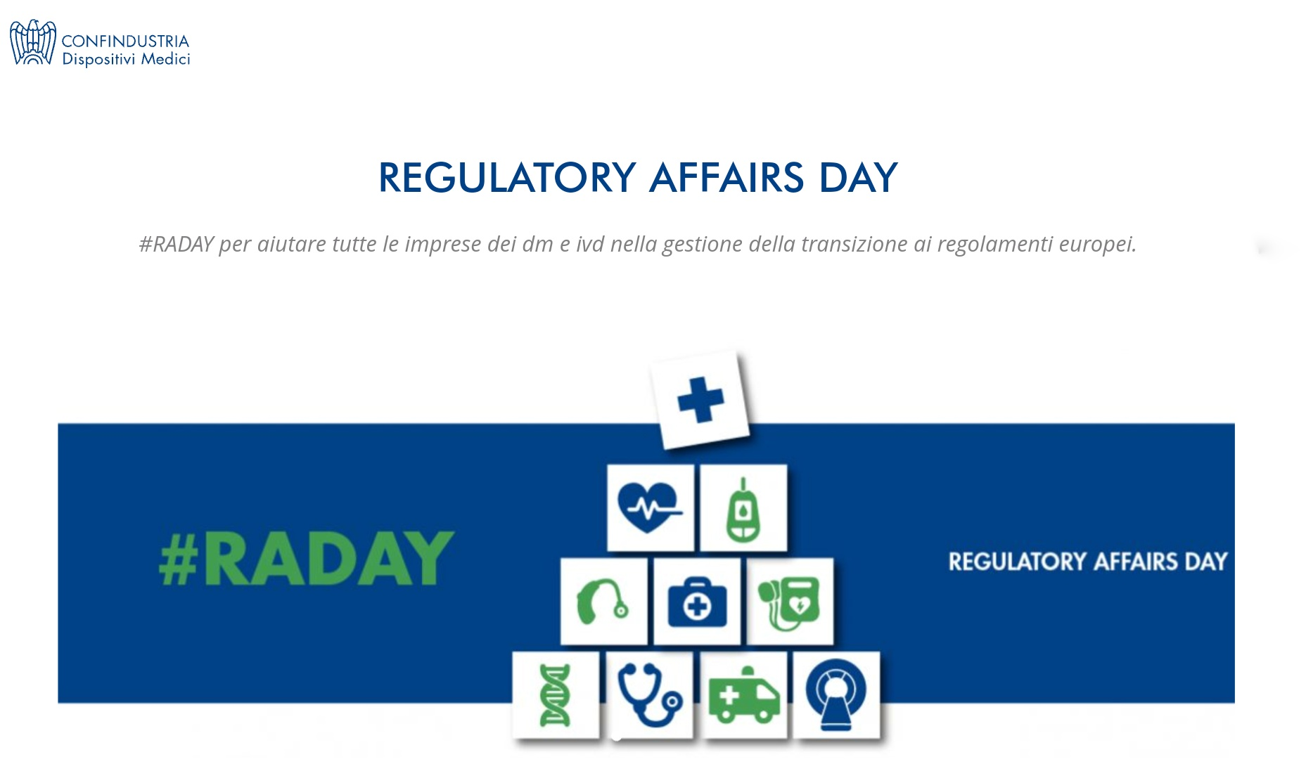 Regulatory Affairs Day di Confindustria Dispositivi Medici